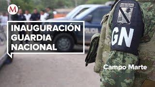 AMLO inaugura la Guardia Nacional en Campo Marte