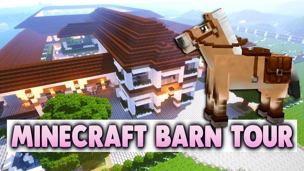 Huge Minecraft Barn Tour Maple Leaf Equestrian Center