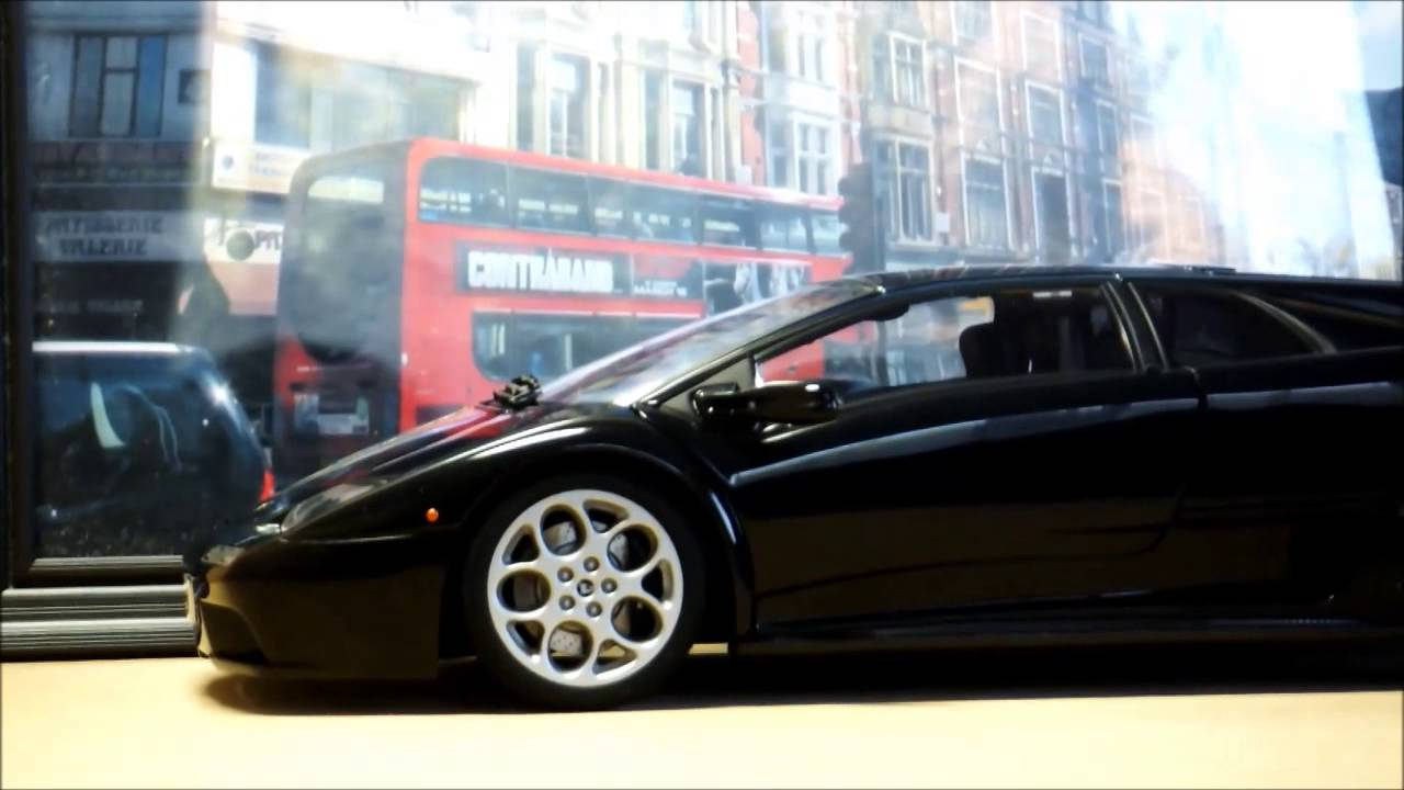 1 18 autoart lamborghini diablo 6 0 vt youtube. Black Bedroom Furniture Sets. Home Design Ideas