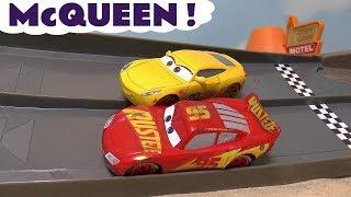 Disney Cars Toys Lightning McQueen and Cruz Ramirez Toy Stories with Hot Wheels Spiderman Race TT4U
