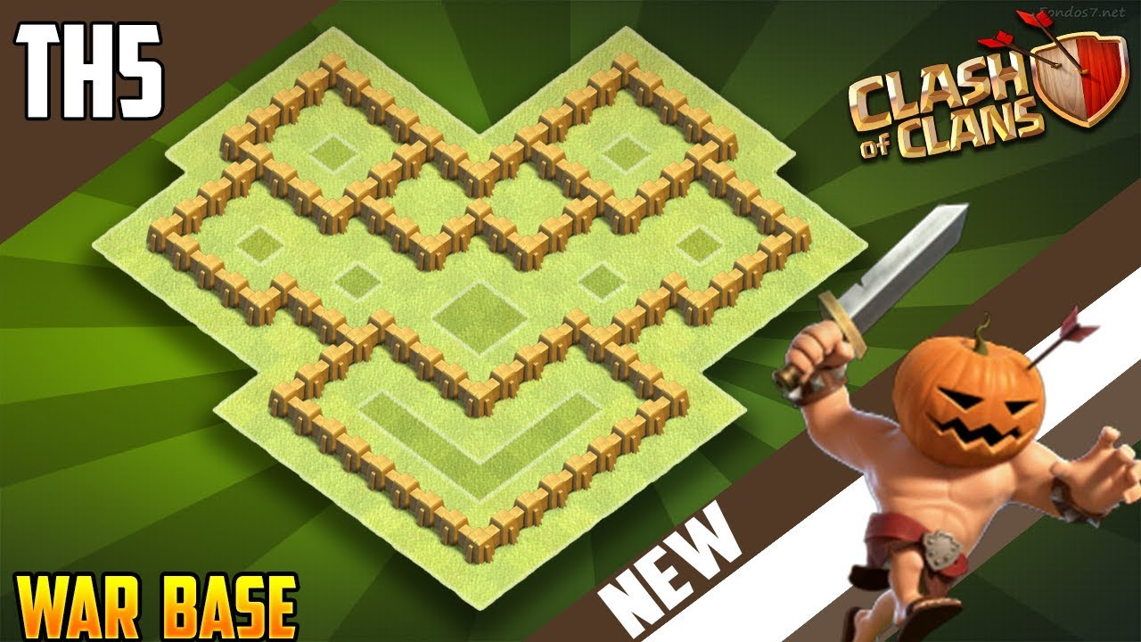 Best War Base Th 5 Coc 7