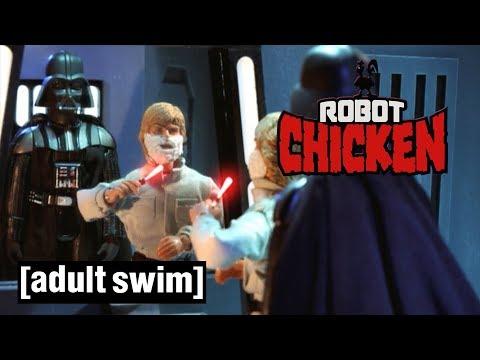 Luke Skywalker versus Darth Vader | Robot Chicken Star Wars | Adult Swim