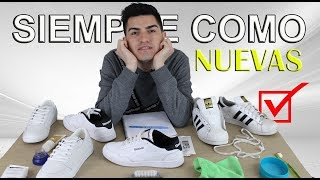 vocal Noche Requisitos  ¿Cómo limpiar zapatillas blancas? | Blanquear Adidas Superstar FÁCIL -  YouTube
