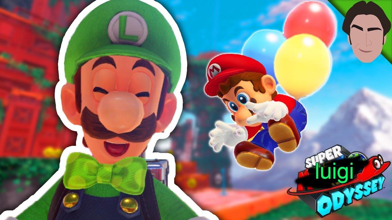 Playing as Luigi in Super Luigi Odyssey!