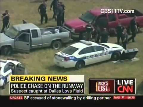 Dallas airport police chase / San Francisco airport grounds plane (August 19, 2010)