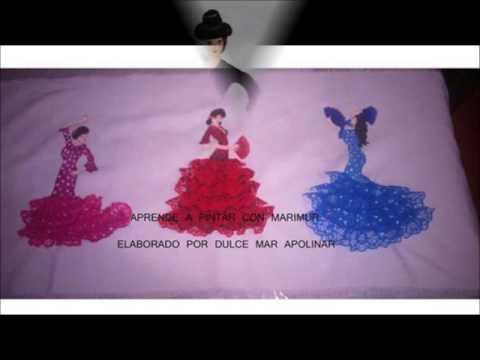 Pintura en tela mu ecas flamencas marimur 637 youtube - Pintura en tela motivos navidenos ...