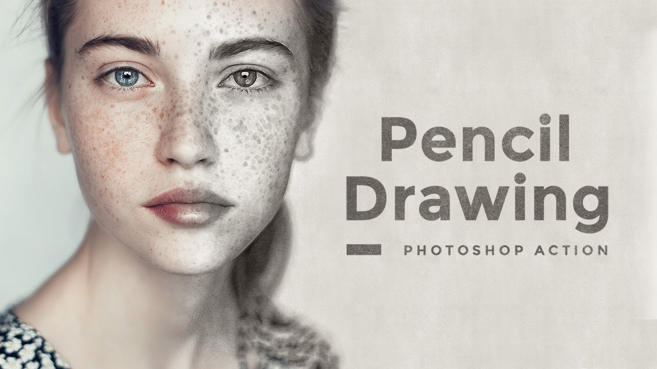 Pencil drawing effect photoshop action tutorial