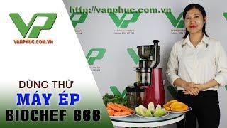 Review ép hoa quả, làm kem bằng máy ép trái cây Biochef 666