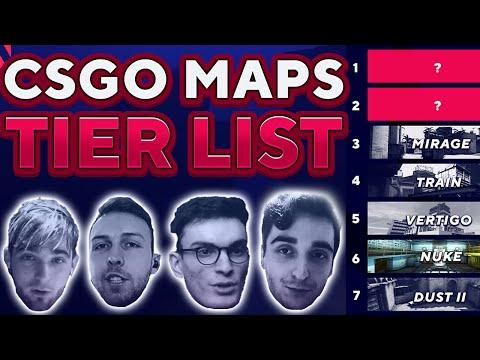 Shox, Gla1ve, Plopski and NAF make a CSGO Map Tier list | CSGO Maps Ranked #1