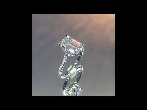250 ct emerald cut diamond engagement ring youtube 250 ct emerald cut diamond engagement ring aloadofball Choice Image