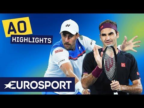 Roger Federer vs Steve Johnson Highlights | Australian Open 2020 Round 1 | Eurosport