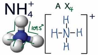 nh4 molecular geometry shape and bond angles