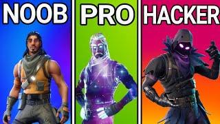 💥NOOB vs PRO vs HACKER / Fortnite Montage💥