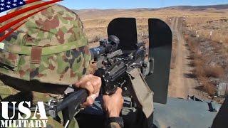 陸上自衛隊・軽装甲機動車 ミニミ軽機関銃の走行射撃 - JGSDF LAV (Light Armoured Vehicle), FN Minimi Gun Fire