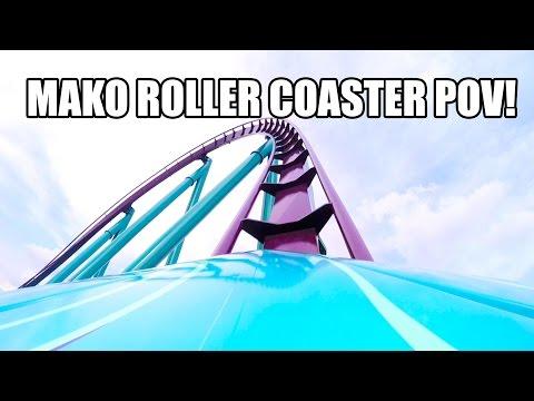 Mako Roller Coaster REAL POV - SeaWorld Orlando First Test Run