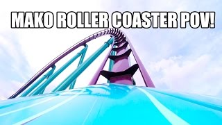 mako roller coaster real pov seaworld orlando first test run