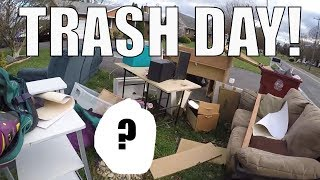 I FOUND THIS IN THE TRASH?!?!  Live Garbage Picking! HUGE HAULS!