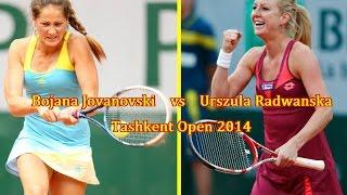 Bojana Jovanovski vs Urszula Radwanska || Tashkent 2014 Highlights