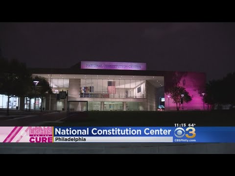 National Constitution Center Turns Pink For Fight Against Breast Cancer