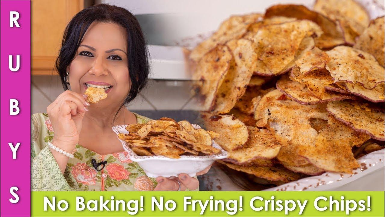 No Baking No Frying Crispy Amp Tasty 5 Minute Potato Chips
