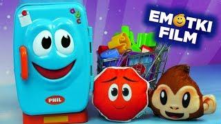Emotki  Film • Challenge: Napełniamy lodówkę • Zakręcona lodówka • Bajki i gry dla dzieci