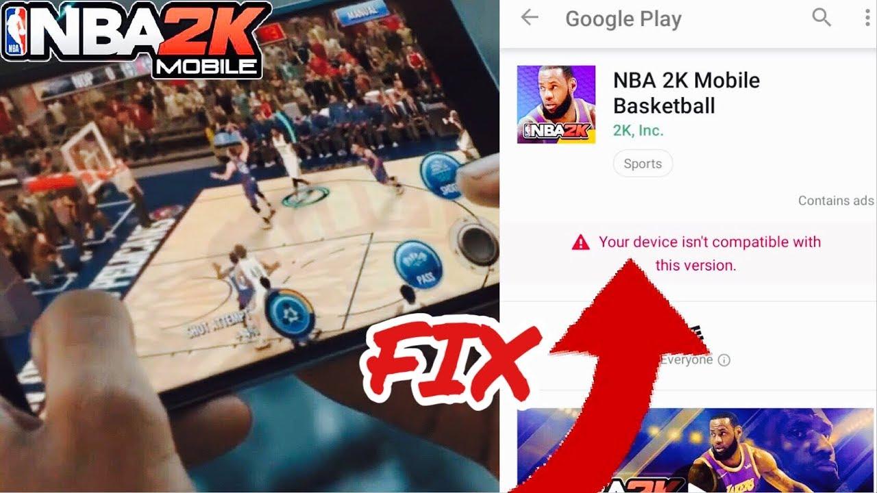 NBA 2K MOBILE ANDROID Download Compatibility FIX!! @NBA2KMobile