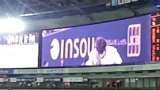 2013年3月29日 福岡ソフトバンクホークス開幕戦の始球式に登場したゴー...