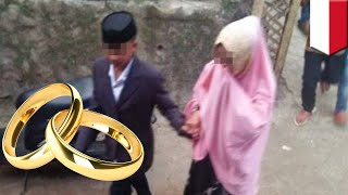 Pasangan bocah 13 dan 17 tahun menikah, begini ceritanya ... - TomoNews