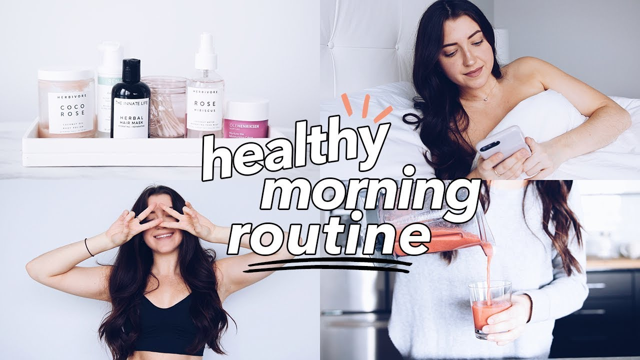 Healthy Morning Routine 2018 | breakfast, skincare, run!