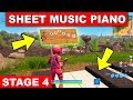 """Play the Sheet Music at the Piano near Retail Row"" LOCATION WEEK 6 CHALLENGE Fortnite Season 6"