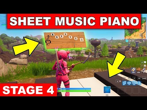 Play the Sheet Music at the Piano near Retail Row LOCATION WEEK 6 CHALLENGE Fortnite Season 6