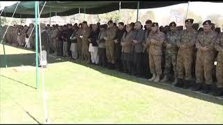 COAS attended Namaz e Janaza of 11 Martyrs of Swat blast offered at Peshawar