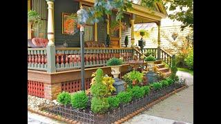 Замечательные идеи для оформления палисадника перед домом