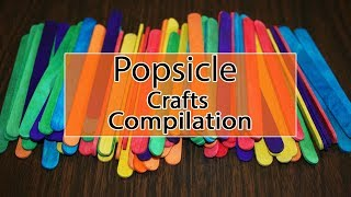 Top 5 DIY Popsicle Stick Craft Compilation   Easy photo frames ideas