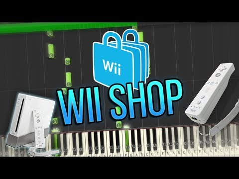 Wii Shop Channel Theme Piano Tutorial Synthesia