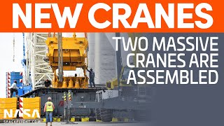 Two Massive Cranes Assembled | SpaceX Boca Chica