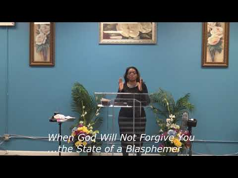 When God Will Not Forgive You... The State Of A Blasphemer