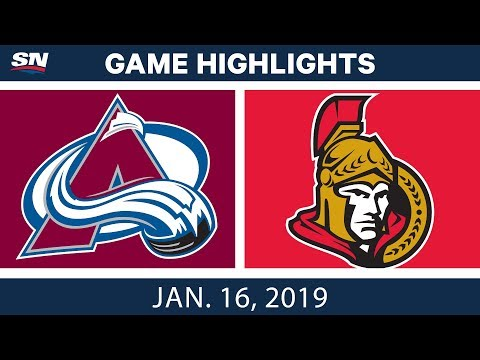 NHL Highlights | Avalanche vs. Senators - Jan. 16, 2019