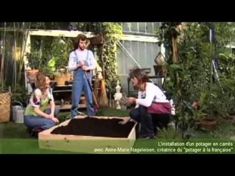 Cr er un potager en carr s la fran aise 1 youtube for Jardin en carres plan