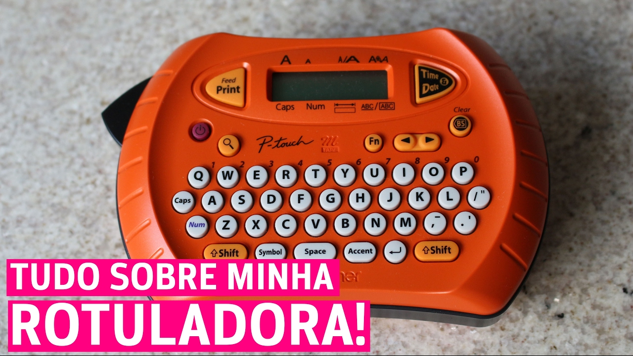 Rotuladora P Touch 70 Brother Resenhando 7 Youtube