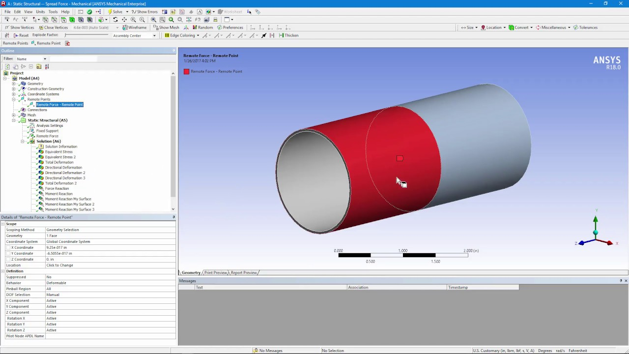 How To Apply A Load On Pipe End Using Ansys Workbench Mechanical Powerpoint Replacement For Youtube