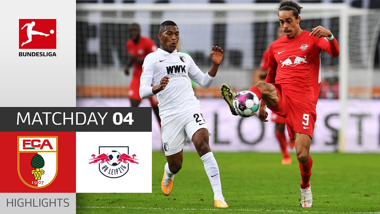 Аугсбург  0-2  Лейпциг видео
