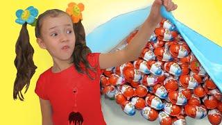 Ulyana Go On Chocolate Kinder Joy Surprise Egg Hunt for Kids