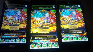 3 Devices summons God rush banner/GSSR banner SSR's dropping like flys (Dokkan battle)