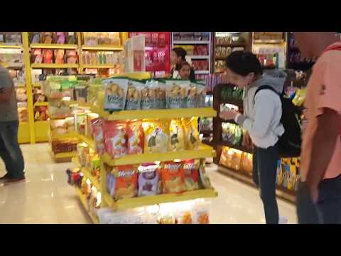 Duty free shopping at Bangkok Suvarnabhumi airport, Thailand