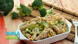 Cheesy Pasta With Vegetables (calcium Rich Recipe) By Tarla Dalal