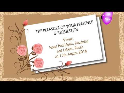 Ecard Wedding Invitation Animated YouTube – Wedding Invitation E-card