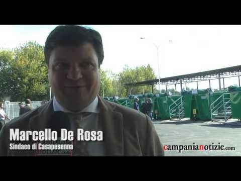 Casapesenna, inaugurato il centro raccolta rifiuti