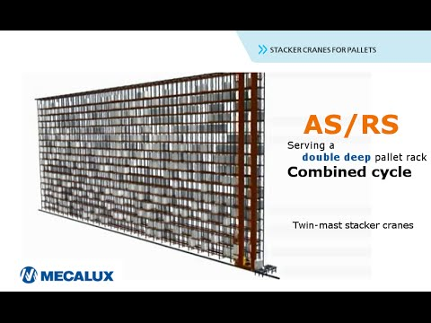 ASRS, double cycles for stacker cranes in double deep rack | Mecalux Group