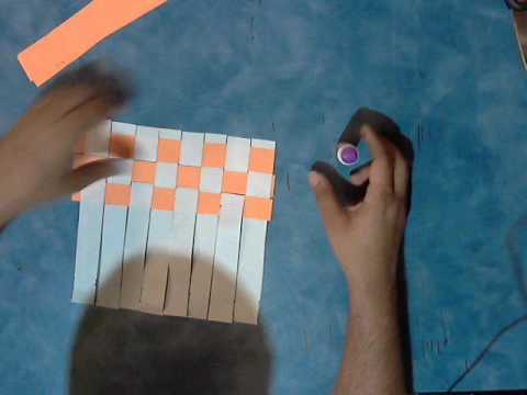 How to make a placemat/paper-rug or/chess board